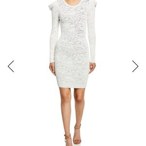 MILLY Lace Long-Sleeve Draped-Shoulder NWT